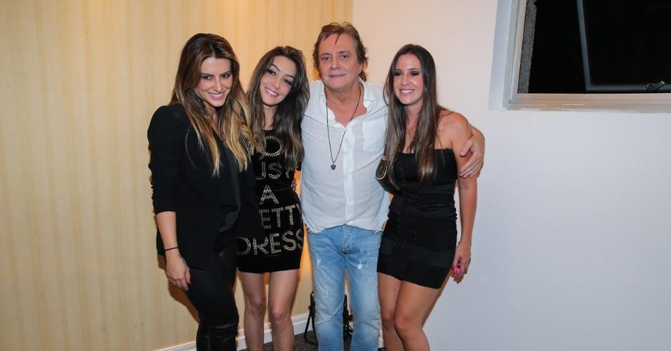 18.amr.2016 - Fábio Jr. com as filhas Cleo Pires, Tainá Galvão e Krízia Galvão