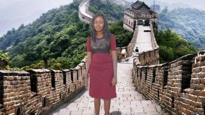 """Um dos sonhos """"realizados"""" por Seve Gat: visitar a Muralha da China"""