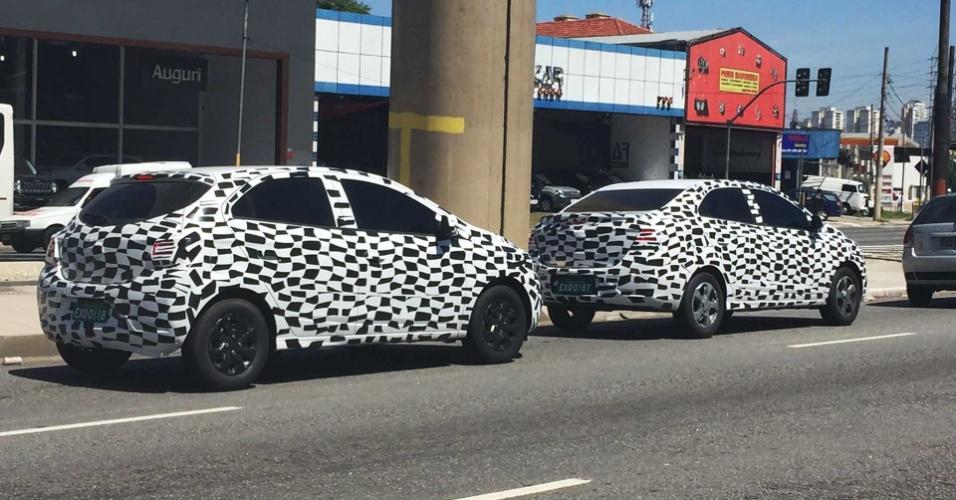 Flagra de Chevrolet Onix e Prisma reestilizados