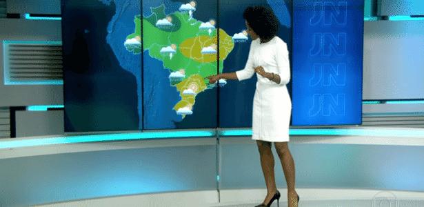 """Maju Coutinho erra feio a previsão do tempo e chama outono de """"mascarado e traíra"""" - Reprodução/TV Globo"""