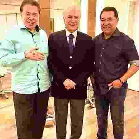 Silvio Santos e Michel Temer em encontro no salão de Jassa - Reprodução/Instagram/robsonjassa - Reprodução/Instagram/robsonjassa