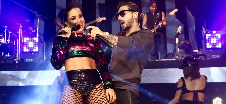 Anitta e Maluma sensualizam em show no Espaço das Américas, em São Paulo - Manuela Scarpa/Brazil News