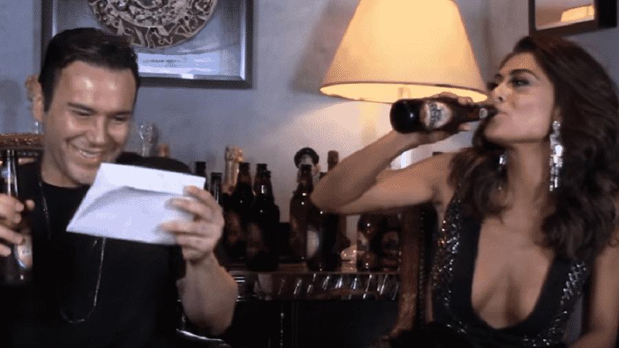 Juliana Paes participa de brincadeira no Youtube - Reprodução