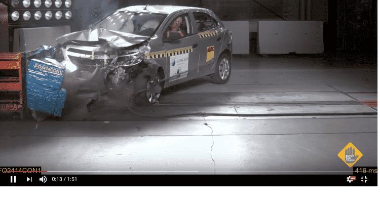Chevrolet Onix zero estrela Latin NCap - Reprodução/Latin NCAP - Reprodução/Latin NCAP