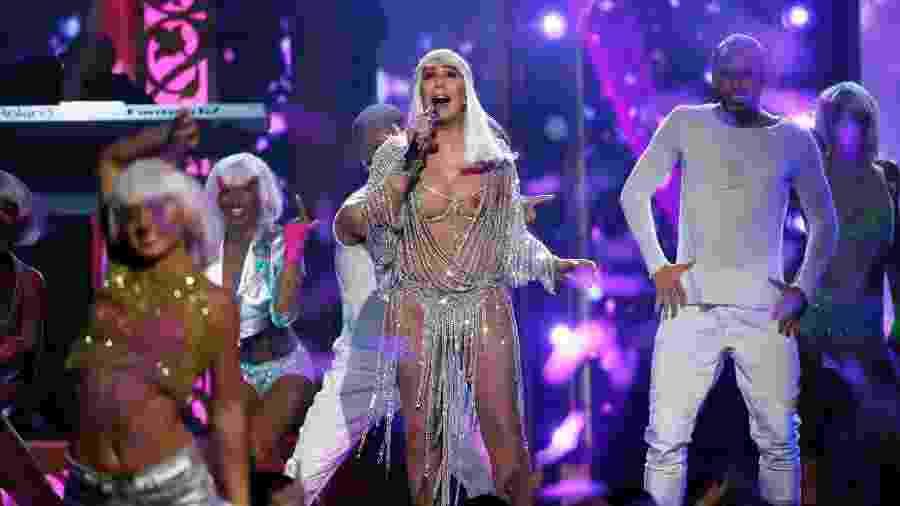 """A cantora Cher fez 71 anos no sábado e no domingo ganhou o prêmio Ícone da """"Billboard"""" - Mario Anzuoni/Reuters"""