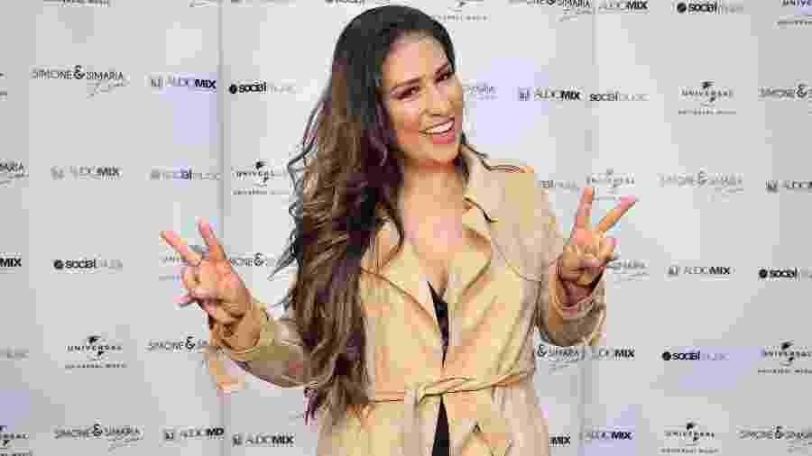 Simone posa nos bastidores do VillaMix Festival Goiânia - Manuela Scarpa/Brazil News