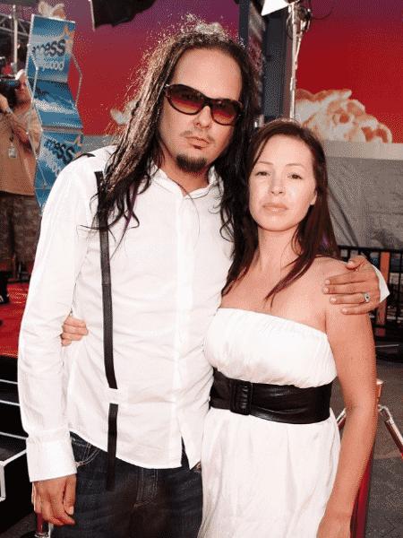 O vocalista do Korn, Jonathan Davis, e sua ex-mulher Deven Davis - GettyImage