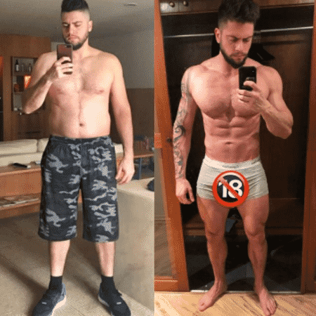 rodrigo godoy marido de preta gil mostra antes e depois de dieta