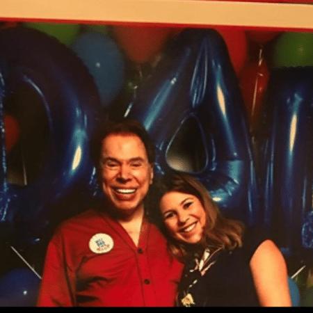 Silvio Santos com Daniela Beyruti - Reprodução/Instagram