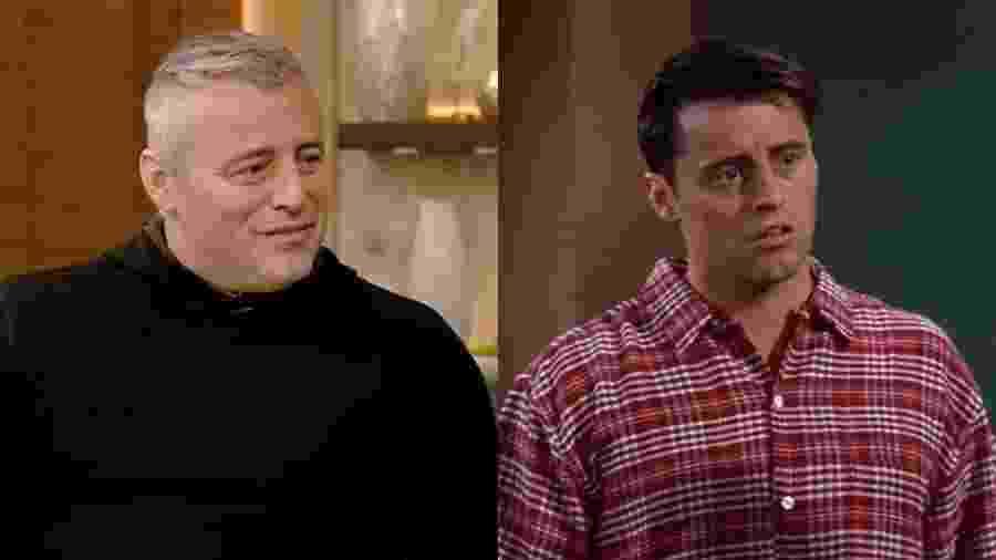 """Matt LeBlacn em entrevista ao programa """"Live With Kelly and Ryan"""" e em cena de """"Friends"""" - Reprodução"""