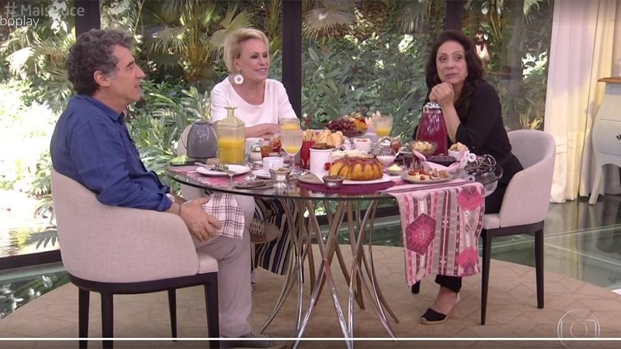 """Paulo Betti e Eliane Giardini no """"Mais Você"""" - Reprodução/Globo"""