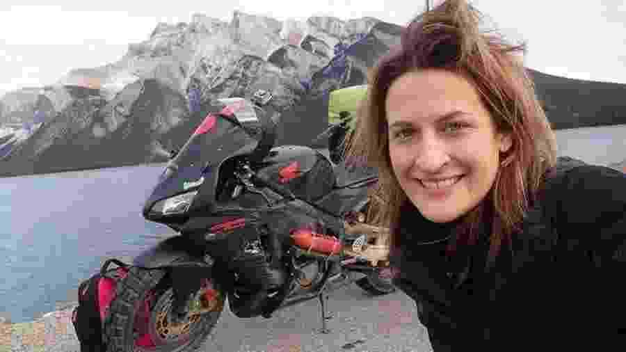A norte-americana viajou do Alasca até a Argentina de moto - Reprodução/Arquivo pessoal