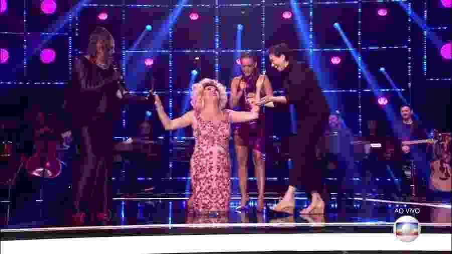 Nany People se emociona ao ver a atriz Lilia Cabral no programa Popstar - Reprodução/TV Globo