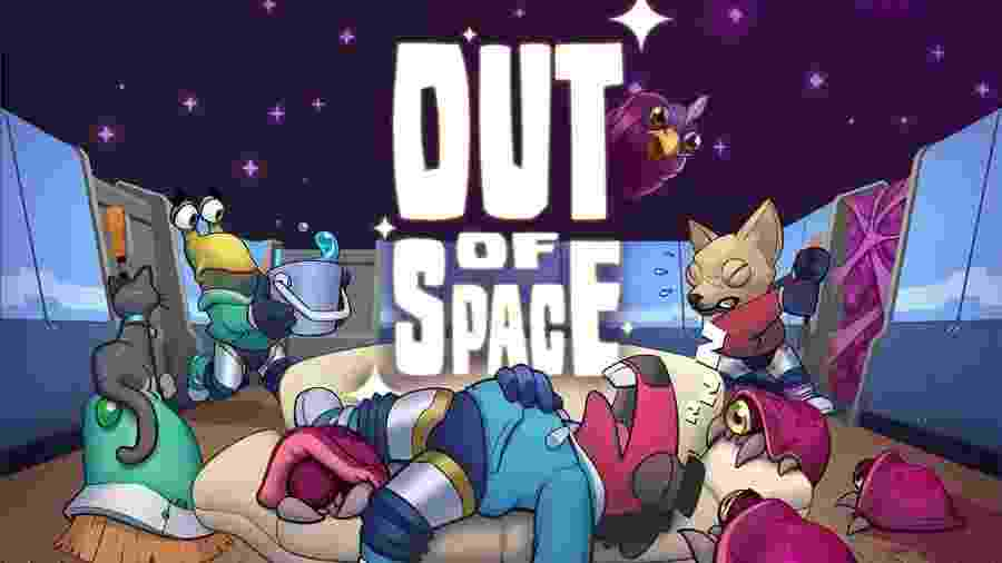 Em Out of Space você está confinado em uma nave e precisa se organizar em equipe para limpar o chão, lavar a louça e cozinhar  - Divulgação