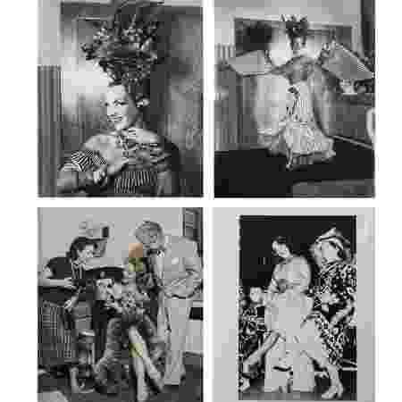 Carmen Miranda nos bastidores do London Palladium, em maio de 1948 - Coleção Haroldo Coronel/Divulgação - Coleção Haroldo Coronel/Divulgação