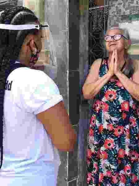 Entrega de doações na Cidade de Deus pela Frente CDD, no Rio - Divulgação - Divulgação