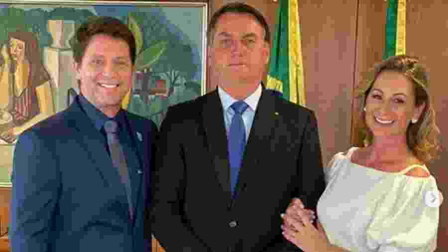 Mário Frias participa de posse simbólica ao lado de Bolsonaro - Reprodução/Instagram