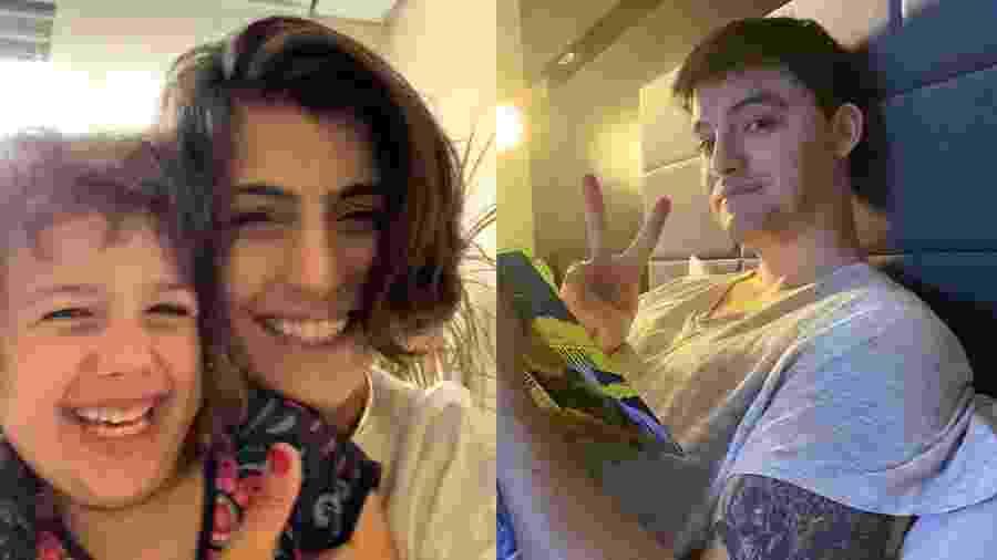 """Manuela D""""Ávila e a filha, Laura, 5 anos, jogaram Among Us cm Felipe Neto, em transmissão ao vivo - Reprodução/Instagram"""