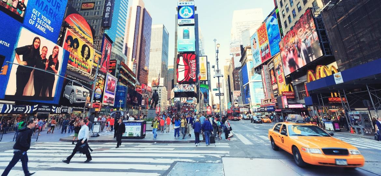 Time Square, em Nova York - Getty Images/iStockphoto