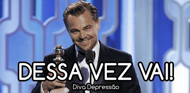 Diva - DiCaprio vencedor - Montagem/Diva Depressão - Montagem/Diva Depressão