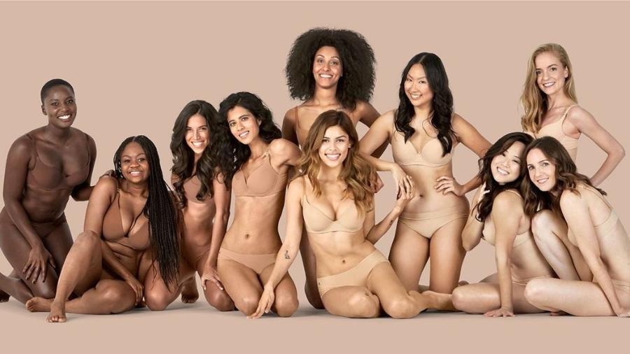 A marca Naja criou a coleção após a estilista perceber que ginasta negra não tinha collant no tom nude certo - Divulgação