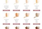 Marca de maquiagem dá nomes pejorativos a tons mais escuros - Divulgação/ Site RG