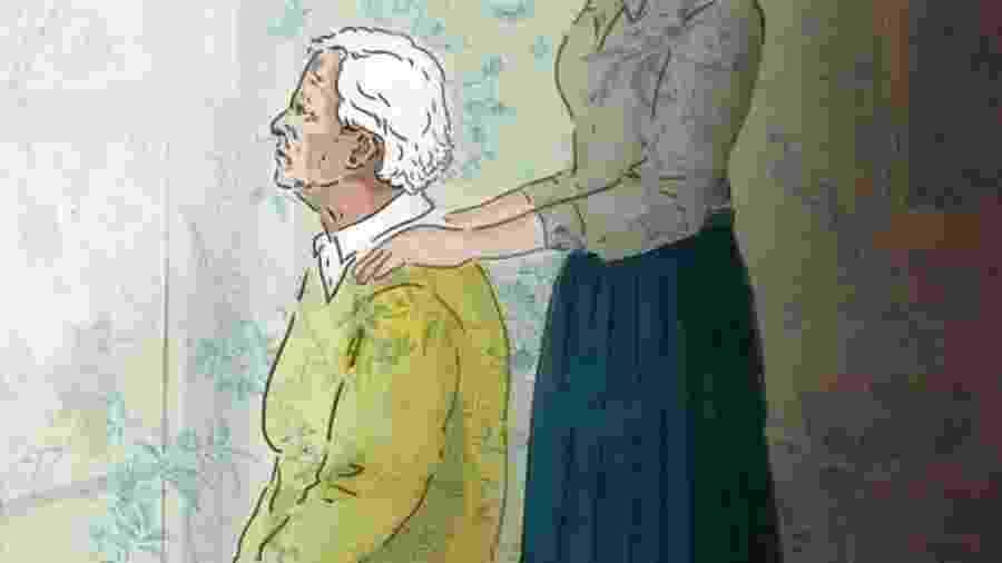"""""""A geriatra insiste em dizer que precisamos cuidar de nós porque minha avó pode viver mais um ou dez anos. Rezo para que isso não aconteça, a doença não tem regressão"""" - Didi Cunha/Arte UOL"""