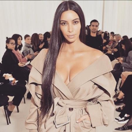 Kim Kardashian durante a Semana de Moda de Paris 2016 - Reprodução/ Instagram/ @kimkardashian
