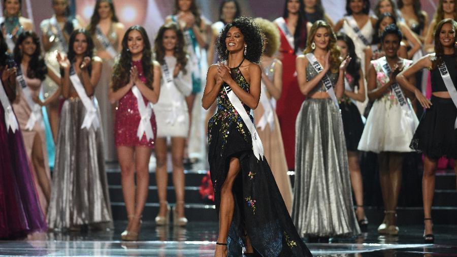 Miss Brasil Raissa Santana ficou entre as 13 primeiras no concurso mundial - AFP