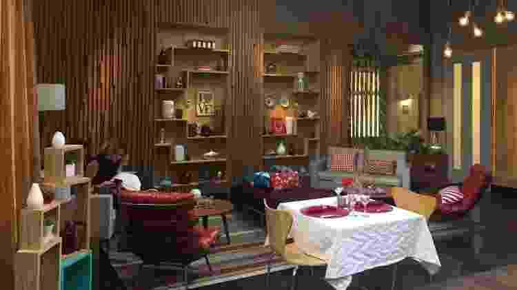 """Detalhe do restaurante montado pela Band para o reality """"À Primeira Vista"""" - Beatriz Amendola/UOL - Beatriz Amendola/UOL"""