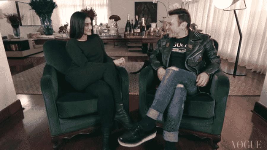 Cleo Pires é entrevistada por Matheus Mazzafera - Reprodução/TVVogue