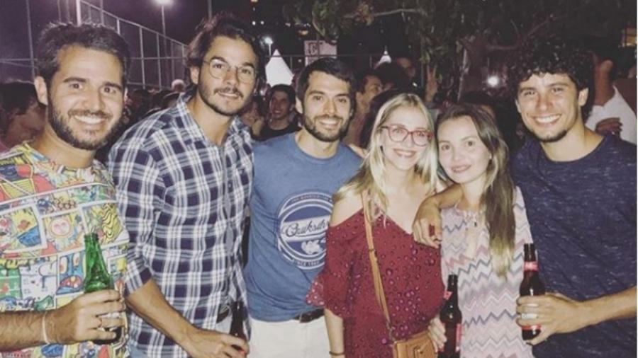 Túlio Gadêlha e amigos em show de Lenine - Reprodução/Instagram/tuliogadelha