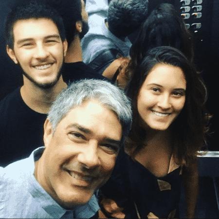 William Bonner e os filhos Vinícius e Beatriz - Reprodução/Instagram/realwbonner