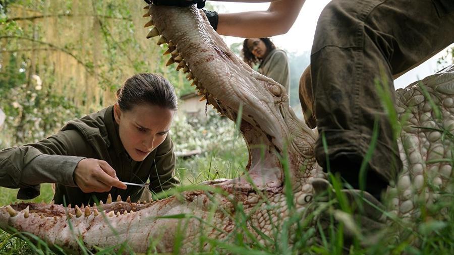 """Natalie Portman em cena de """"Aniquilação"""", filme disponível na Netflix - Reprodução"""