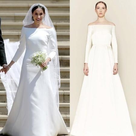 O vestido de noiva de Meghan e a criação de Emilia Wickstead - Getty Images/Reprodução Instagram