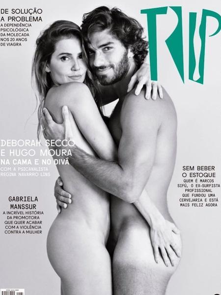 """Deborah Secco e Hugo Moura posam nus na capa da revista """"Trip"""" - Reprodução/Instagram"""