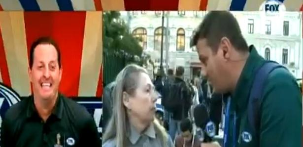 Mulher interrompe transmissão do FOX Sports e provoca momento hilário