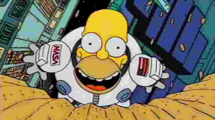 """Homer vai ao espaço em """"Os Simpsons"""" - Reprodução - Reprodução"""