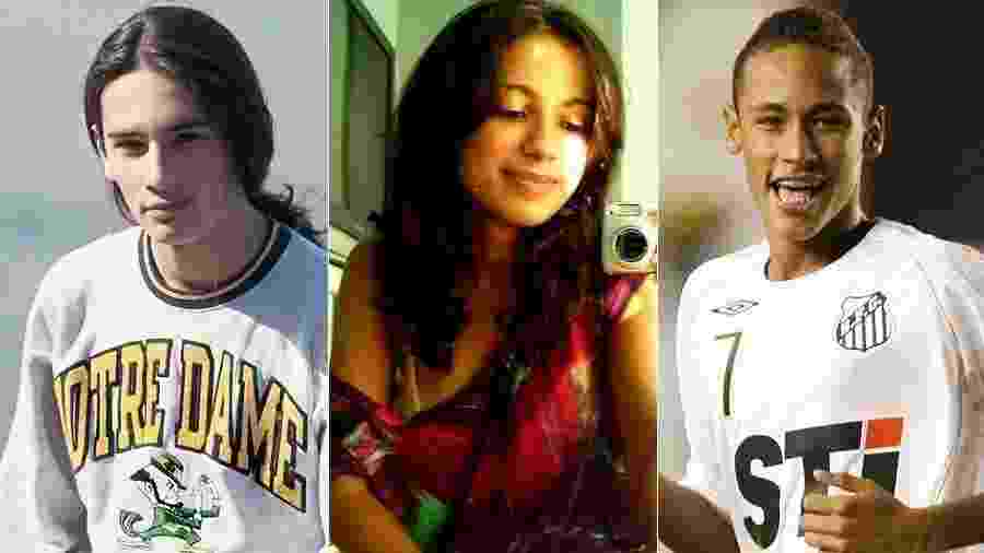 """O """"desafio da puberdade"""" é o mais novo """"viral"""" das redes sociais. A brincadeira é simples: postar uma foto da adolescência, marcada pelo crescimento do corpo e rosto cheio de espinhas, e comparar com uma imagem atual. Entre os famosos, quantas mudanças! O UOL mostra como foi a puberdade de famosos como Rodrigo Santoro, Anitta, Neymar, Bruna Marquezine, Silvio Santos e outras celebridades - Montagem/UOL"""