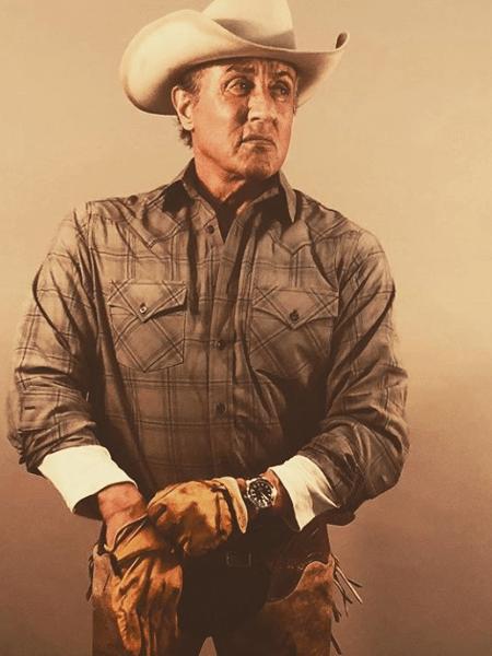 """Sylvester Stallone nos bastidores de """"Rambo 5"""" - Reprodução/Instagram"""