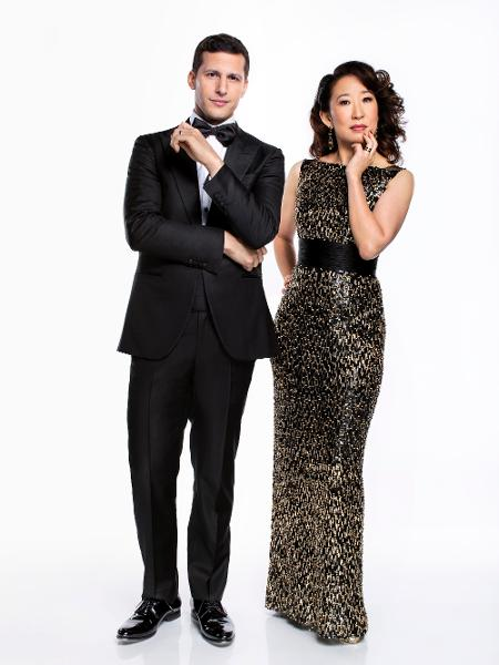 Andy Samberg e Sandra Oh - Trae Patton/NBC/NBCU Photo Bank via Getty Images