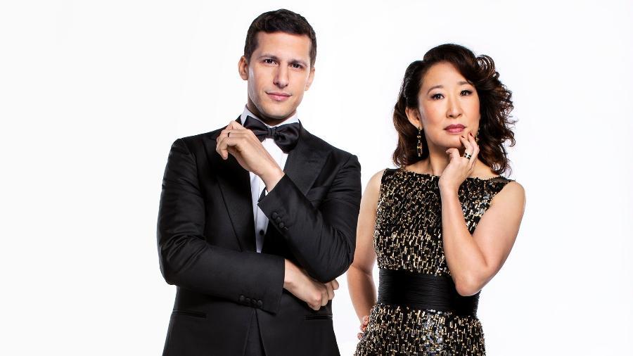 Andy Samberg e Sandra Oh vão apresentar o Globo de Ouro 2019 - Trae Patton/NBC/NBCU Photo Bank via Getty Images