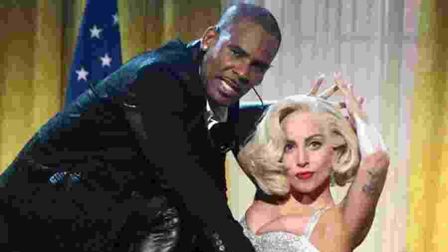 R. Kelly e Lady Gaga - Getty Images/BBC