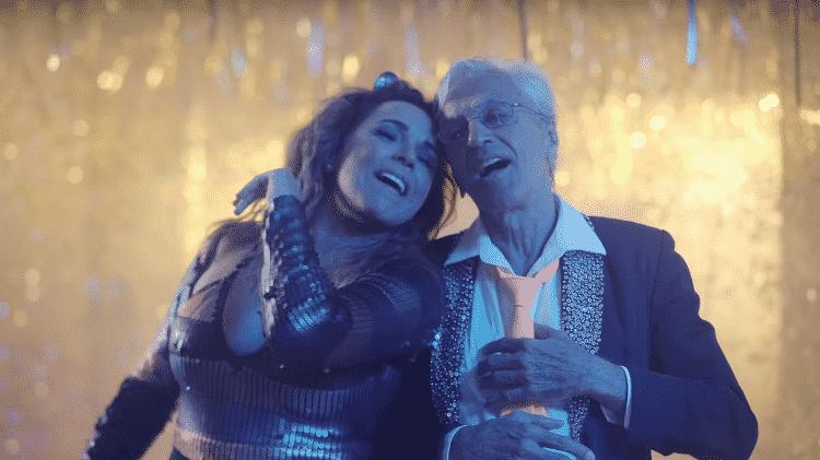 """Daniela Mercury e Caetano Veloso em clima de """"Proibido o Carnaval"""" - Reprodução - Reprodução"""