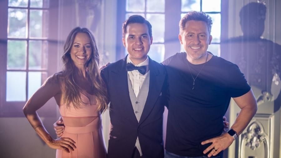 Paula Bonadio, De Maria e Rick Bonadio - Divulgação