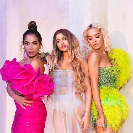 Anitta, Sofía Reyes e Rita Ora - Instagram/Reprodução