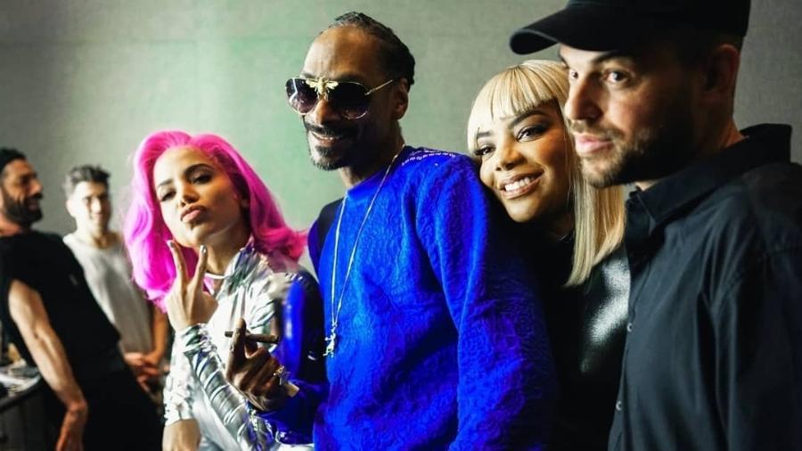 Anitta, Snoop Dogg, Ludmilla e Papatinho estiveram juntos em Onda Diferente, faixa do álbum Kisses - Divulgação