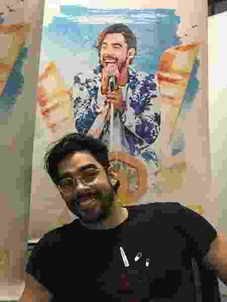 Gabriel Diniz na sede da Universal Music em SP - Adriana de Barros/UOL - Adriana de Barros/UOL