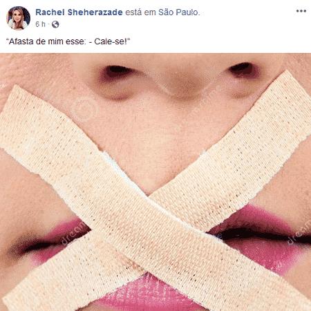 Rachel Sheherazade cita Chico Buarque após ser afastada do SBT - Reprodução/Facebook