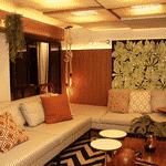 Sala de estar do loft, inspirada no ator Dudu Azevedo e a mulher, a médica Nanda Mader - Divulgação